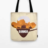 django Tote Bags featuring Django Unchained by TxzDesign