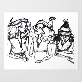 iPhone girl Art Print