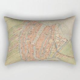 Vintage map of Amsterdam (1560) Rectangular Pillow