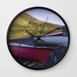 Llyn Crafnant Boats Wall Clock
