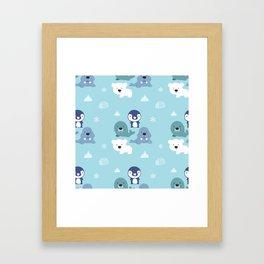 Arctic Animals Framed Art Print