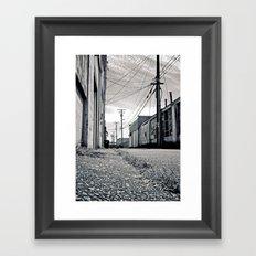 Old urban alley Framed Art Print