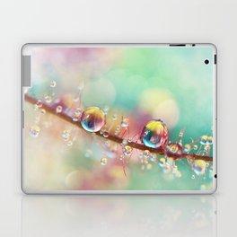 Rainbow Smoke Drops Laptop & iPad Skin