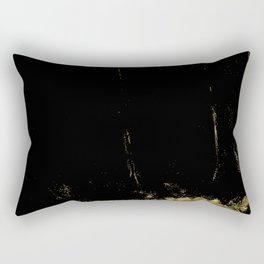 Black and Gold grunge modern abstract background I Rectangular Pillow