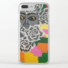 Buried In Flowers Clear iPhone Case