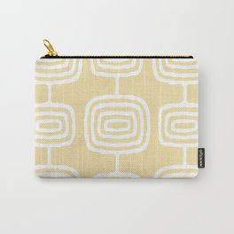 Mid Century Modern Atomic Rings Pattern 771 French Vanilla Carry-All Pouch