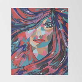 Psychedelic Jane Throw Blanket