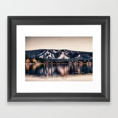 Big Bear Lake Winter Framed Art Print