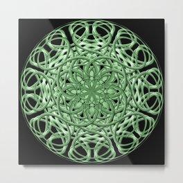 Celtic Swirl Mandala Metal Print
