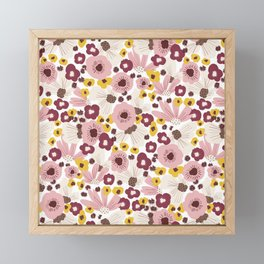Boho Floral Vibes Framed Mini Art Print