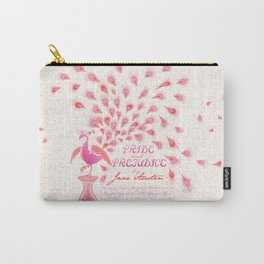 Paisley Peacock Pride and Prejudice: Girly Carry-All Pouch