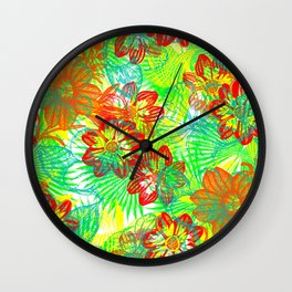 Etched Anemone Wall Clock