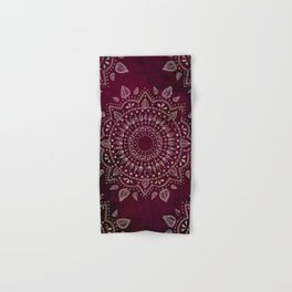 Wine Mandala Hand & Bath Towel