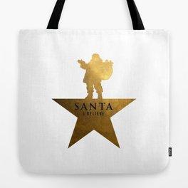 Santa Christmas Star Hamilton Parody Tote Bag