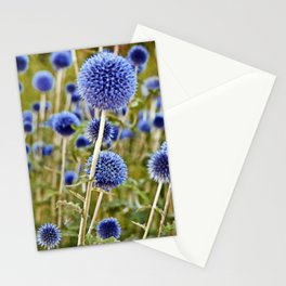 BLUE WILD THISTLE Stationery Cards