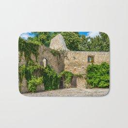 Old Castle Wall Ruin Bath Mat
