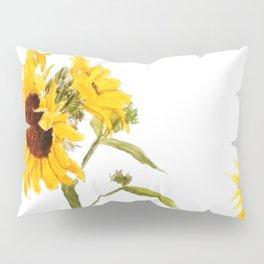 One sunflower watercolor arts Pillow Sham