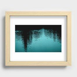 Reflection Blue Recessed Framed Print