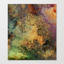 Flower Of Life Batik Canvas Print