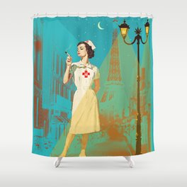 NIGHT NURSE Shower Curtain