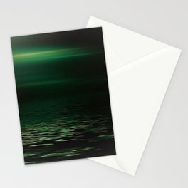 Light-Green sea at twilight Stationery Cards