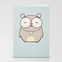 hamster Stationery Cards featuring Hamster by Mr & Mrs Quirynen