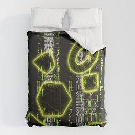 Glitch Cyberspace Interface CCRI-A1 Comforters