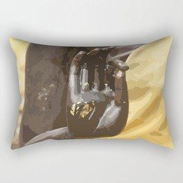 Buddha Hand Illustration Rectangular Pillow