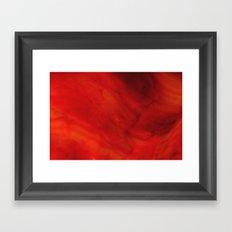 Red glass Framed Art Print