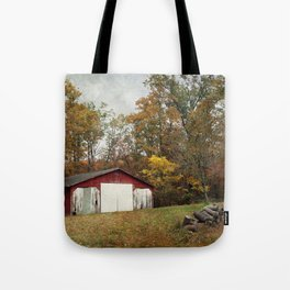 Cromwell Barn in Autumn Tote Bag