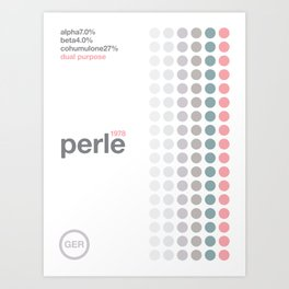 perle//single hop Art Print