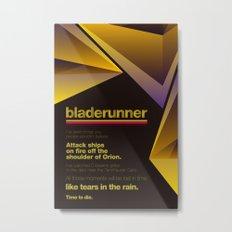 Bladerunner Minimal Movie Poster Metal Print