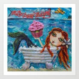 Cupcake Mermaid Art Print