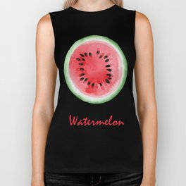 Watermelon slices pattern Biker Tank