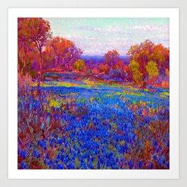 Julian Onderdonk Field of Blue Bonnets Art Print