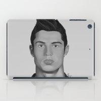 ronaldo iPad Cases featuring Cristiano Ronaldo by OliverThor
