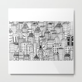 Busy City Metal Print
