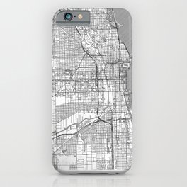 Chicago Map Line iPhone Case