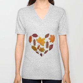 Heart of Fall Unisex V-Neck