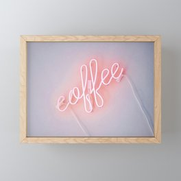 Neon Coffee Framed Mini Art Print