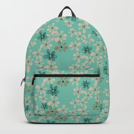 Delicate flowers - hand drawing Backpack