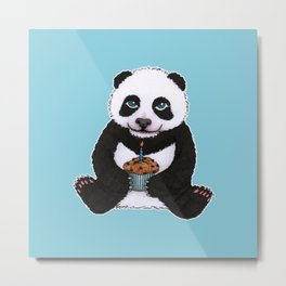 Panda's Birthday Metal Print