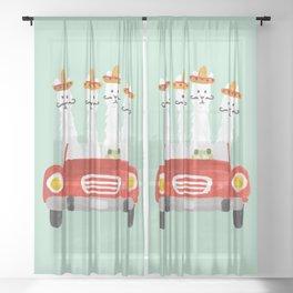 The four amigos Sheer Curtain