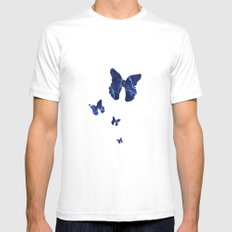 Butterfly SMALL Mens Fitted Tee White