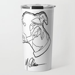 #AveryTheBoxer (M. Clement The Artist Logo) Travel Mug