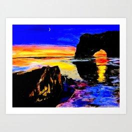 Cordova Sunset Art Print