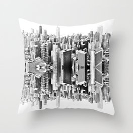 Mirror City Throw Pillow