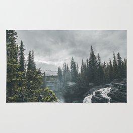 Athabasca Falls Alberta Rug
