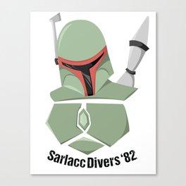 Boba Fett Sarlacc Divers of '82 Canvas Print