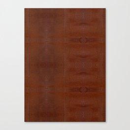 Burnt Orange Leather Canvas Print